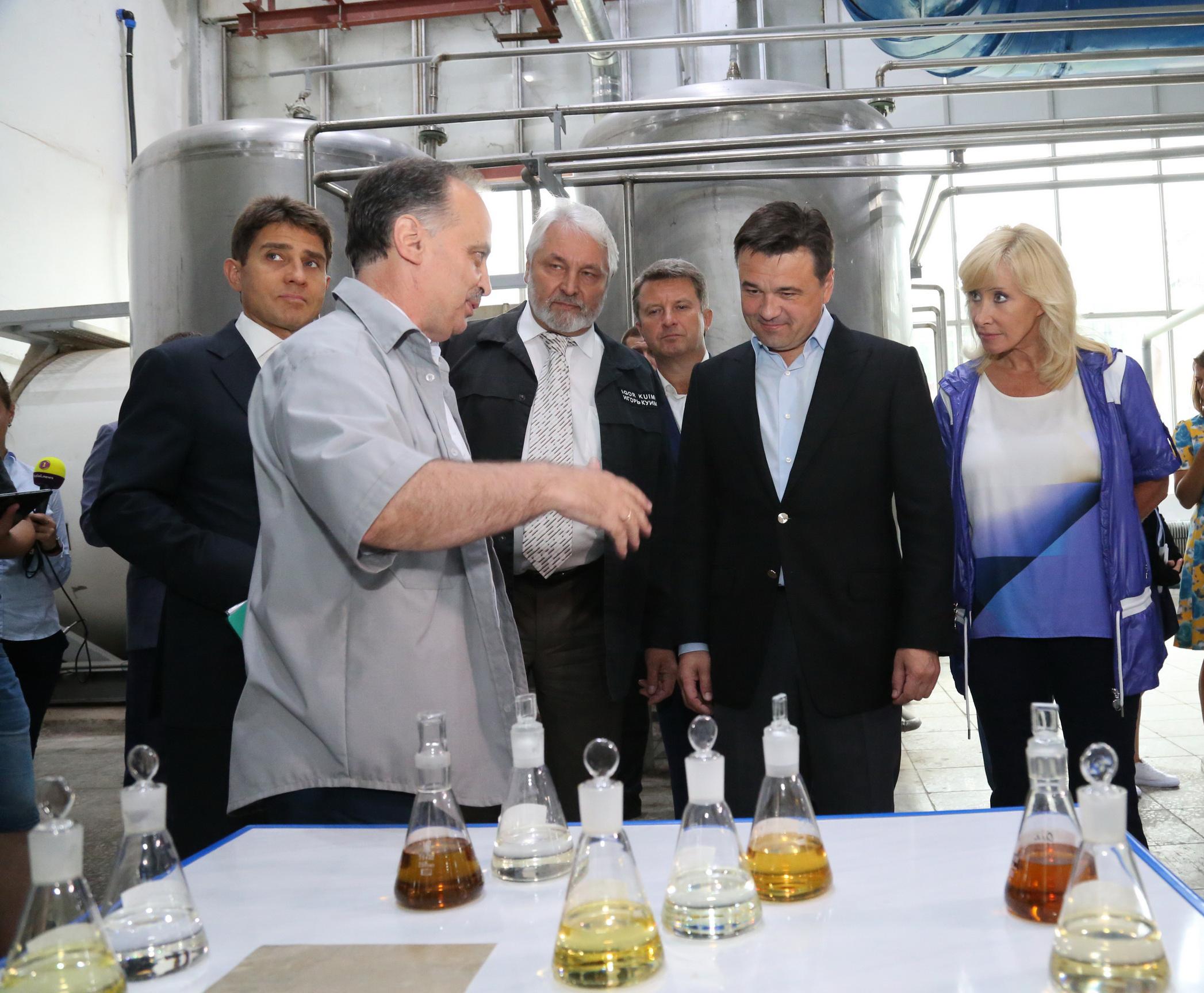 Губернатор Московской области посетил завод «Элинар»