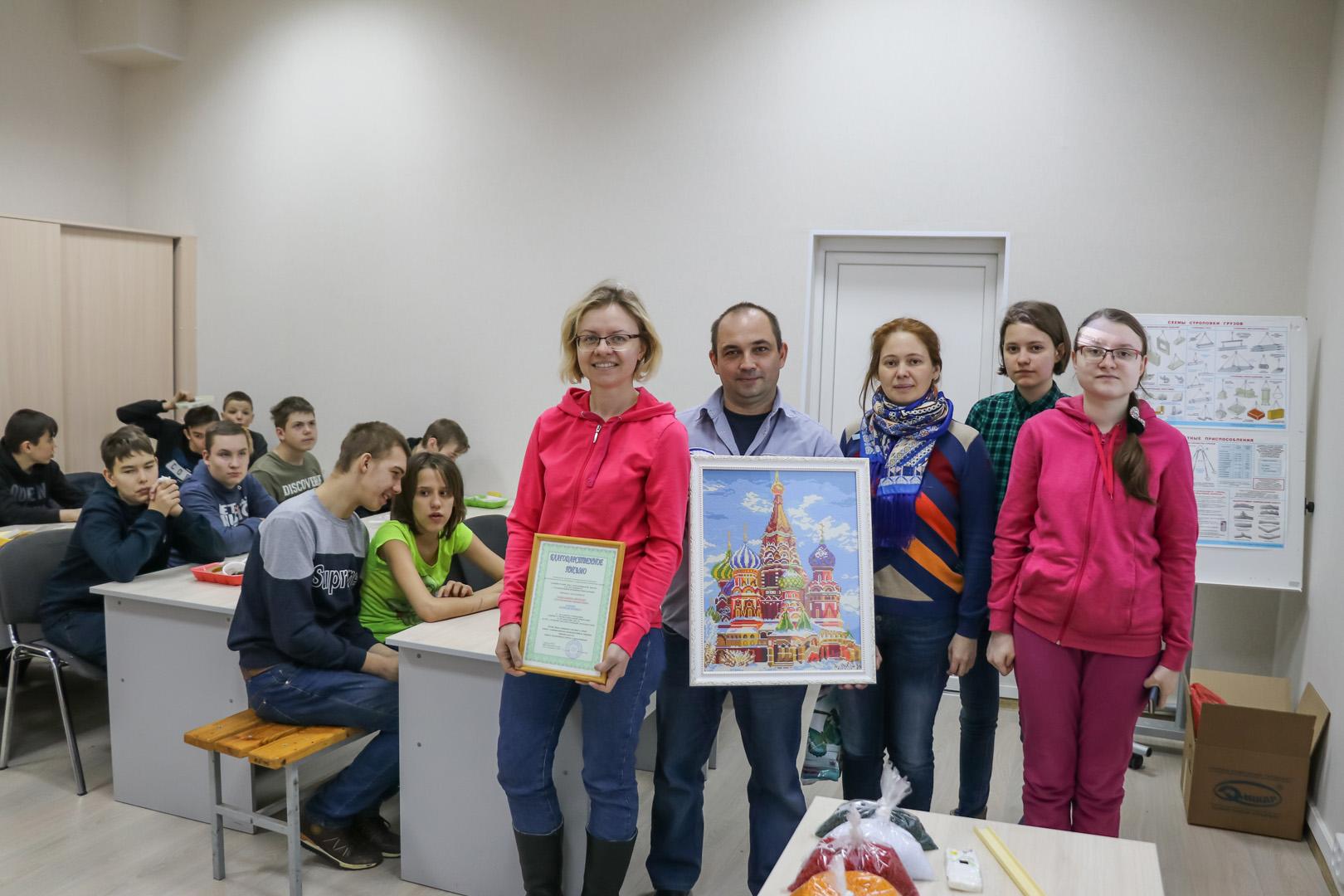 Школьники на заводе «Элинар» в Атепцево
